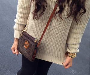 fall, outfit, and sweater image