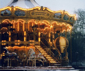 carousel, light, and winter image