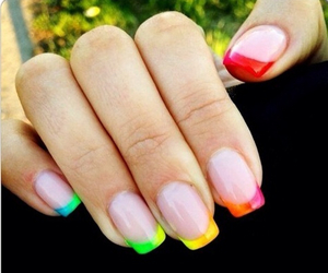 nails, colorful, and tip image