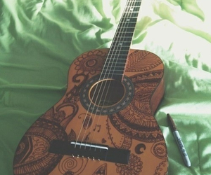 decor, music, and guitar image