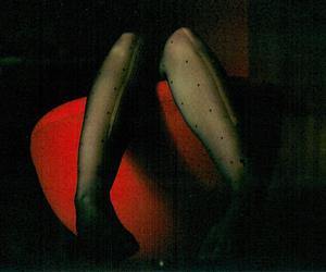 girl, legs, and dark image