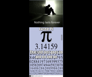 math, pi, and lasts forever image