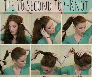 awesome, top knot, and bun image