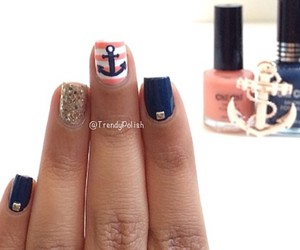 nails, anchor, and glitter image