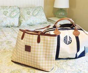 preppy, travel, and monogrammed image