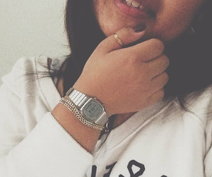 A&F, casio, and girl image