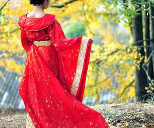 beautiful, dress, and geisha image