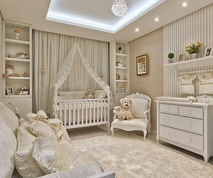 baby, room, and nursery image