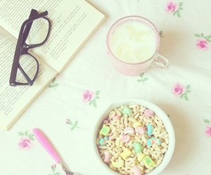 book, food, and cereal image
