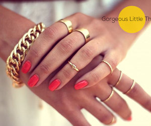 bracelets, nails, and rose image