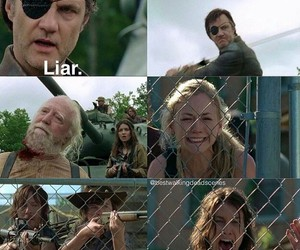 sad and the walking dead image