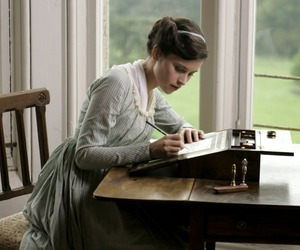 Felicity Jones, northanger abbey, and vintage image