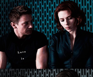 black widow, the avengers, and jeremy renner image
