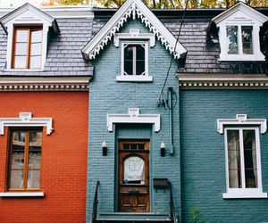 blue, orange, and house image