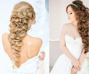 beautiful, bride, and blond image