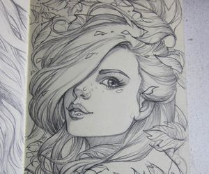 drawing, girl, and art image