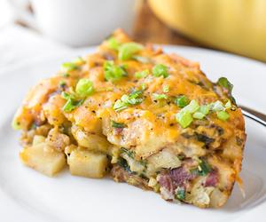 bacon, breakfast, and potato image