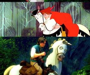 disney, horse, and prince image