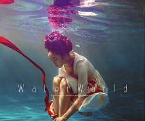 red, swim, and under the water image