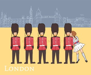 london, kiss, and england image