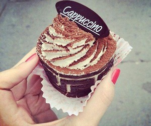 cappuccino, food, and chocolate image