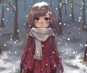 anime, snow, and cute image