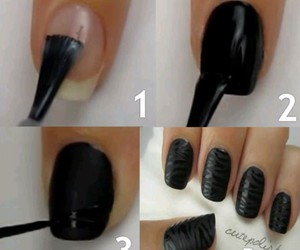 nails, diy, and black image