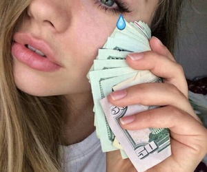 girl, money, and grunge image