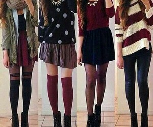 cardigan, scarf, and casual outfit image