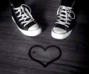converse, heart, and love image