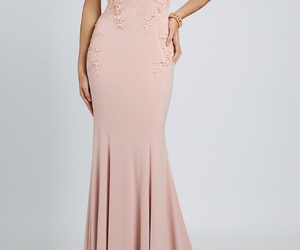 beautiful, evening dress, and lace image
