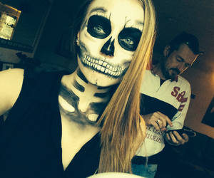 dead, face paint, and girl image