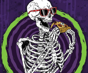 pizza and skeleton image