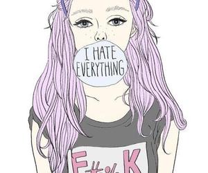 cartoon, kawaii, and punk image