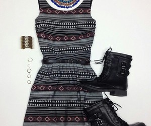 belt, boots, and dress image