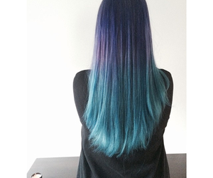 blue, ombre, and purple image