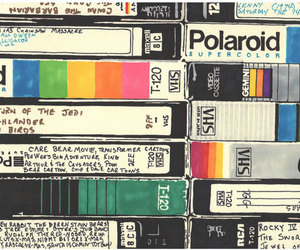 polaroid, vhs, and vintage image