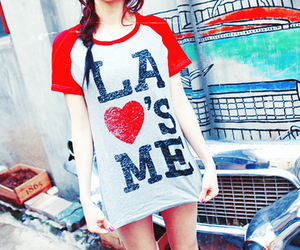 la, clothes, and heart image