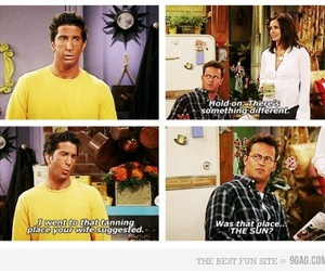 brown, David Schwimmer, and funny image
