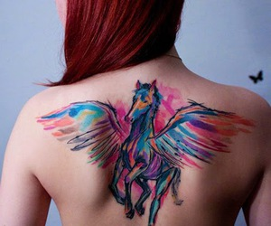 cool, horse, and tattoo image