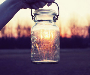 light, sun, and jar image