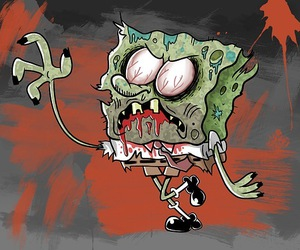 zombie, spongebob, and bob esponja image