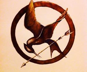 drawing, rebels, and katniss image