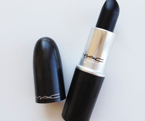 mac, black, and lipstick image