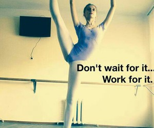 dance, flexibility, and work image