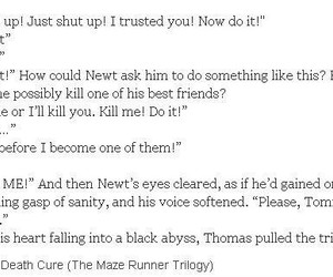 book, sadness, and the maze runner image
