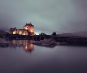 castle, landscape, and light image