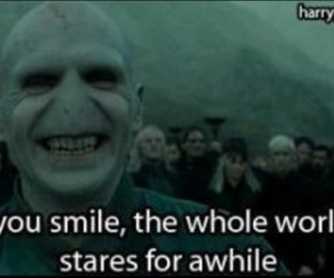 voldemort, harry potter, and smile image