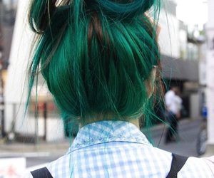 bun, green, and hipster image