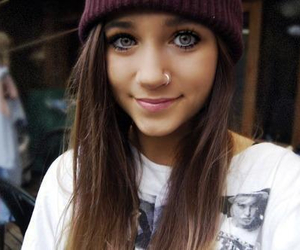 girl, pretty, and piercing image